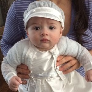 Baby beau and belle boys christening jumpsuit